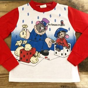 Vintage An American tail longlseeve short 1980s